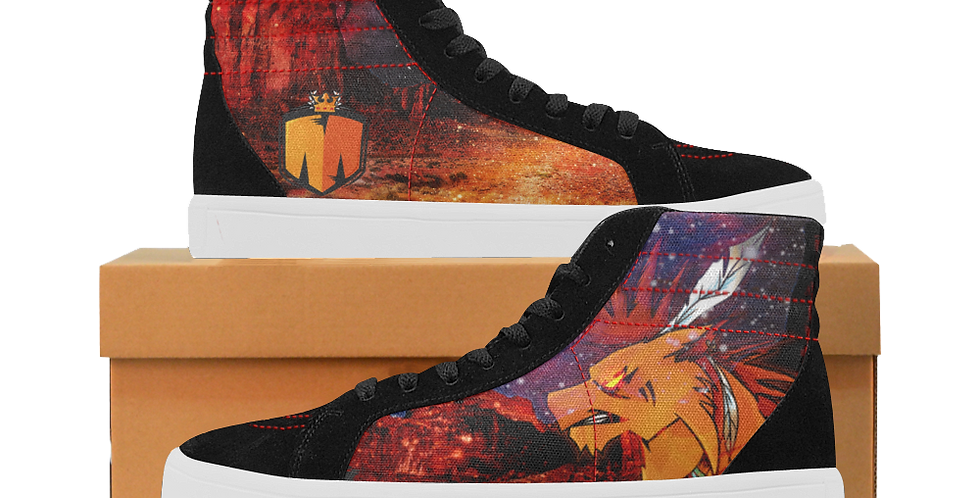 Mixtopher Cosmic Canyon Women's Top Splicing High Top Canvas