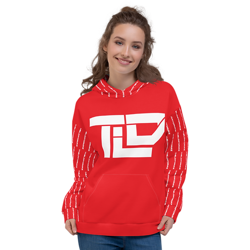 """TLD """"TheLostDrake"""" StreetWear Collection RED Unisex Hoodie"""