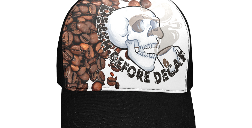 LyndonSG Death Before Decaf Unisex Baseball Cap