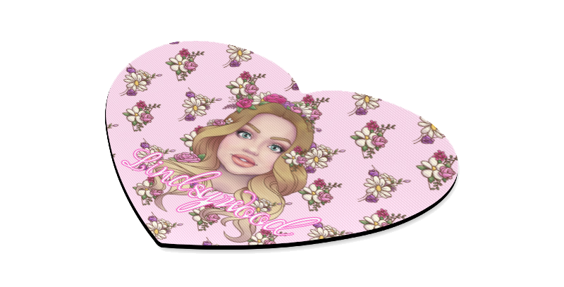 lindsywood logo Heart Shaped Mousepad