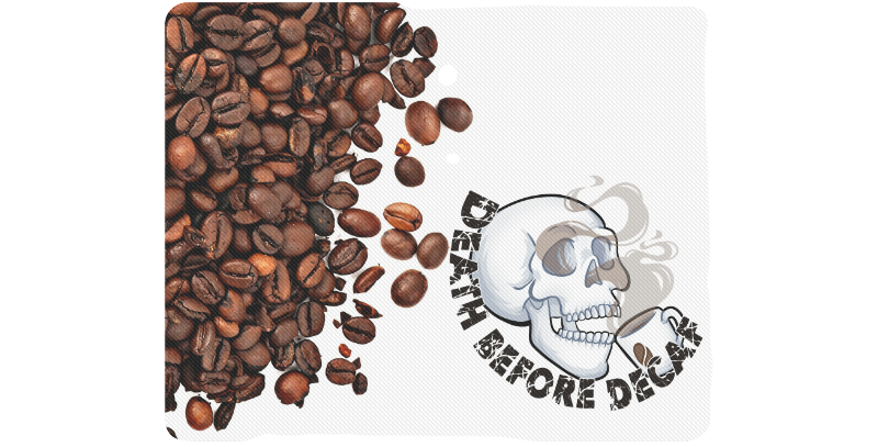 LyndonSG Death Before Decaf Standard Mousepad