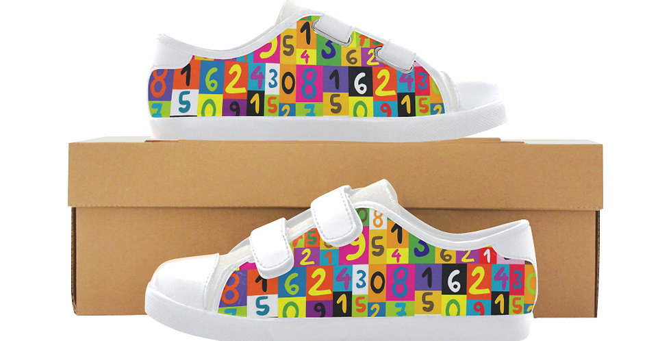 Velcro Low Top Canvas Kid's Shoes