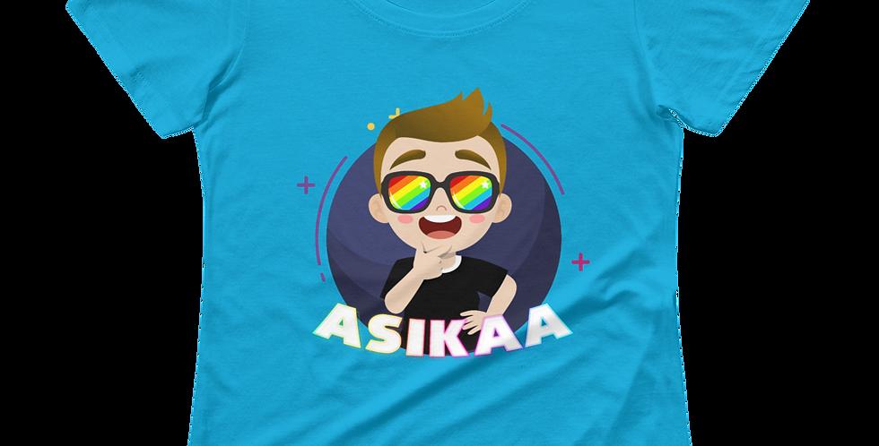 Asikaa Logo Ladies' Scoopneck T-Shirt