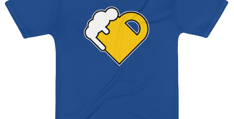 Fourth Room Brewing Beer Heart Poly Tee