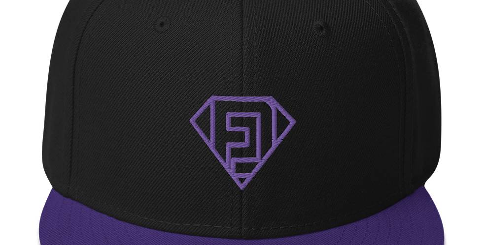 FlowDriver Snapback Hat Purple Embroidery