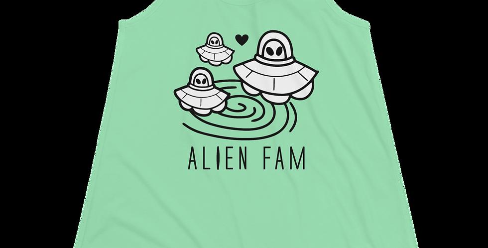 A 1000 Years Alien Fam Women's Flowy Racerback Tank