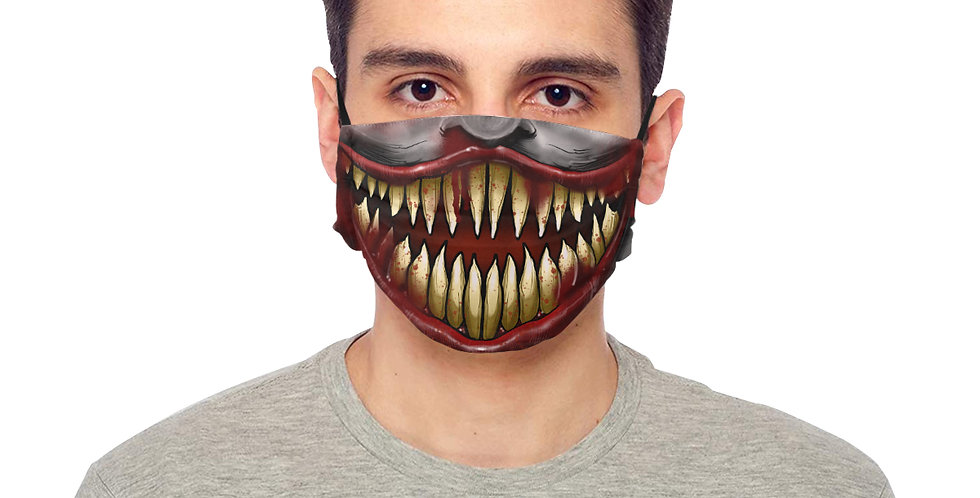 """BE SAFE """"SMILE LIKE YOU MEAN IT"""" MASK Design by ANDESPADE"""