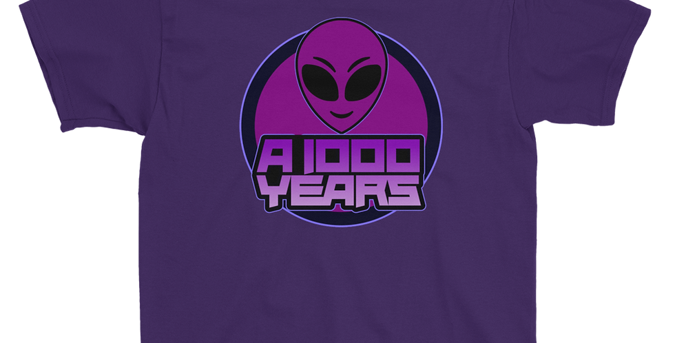A 1000 Years Logo Youth Short Sleeve T-Shirt