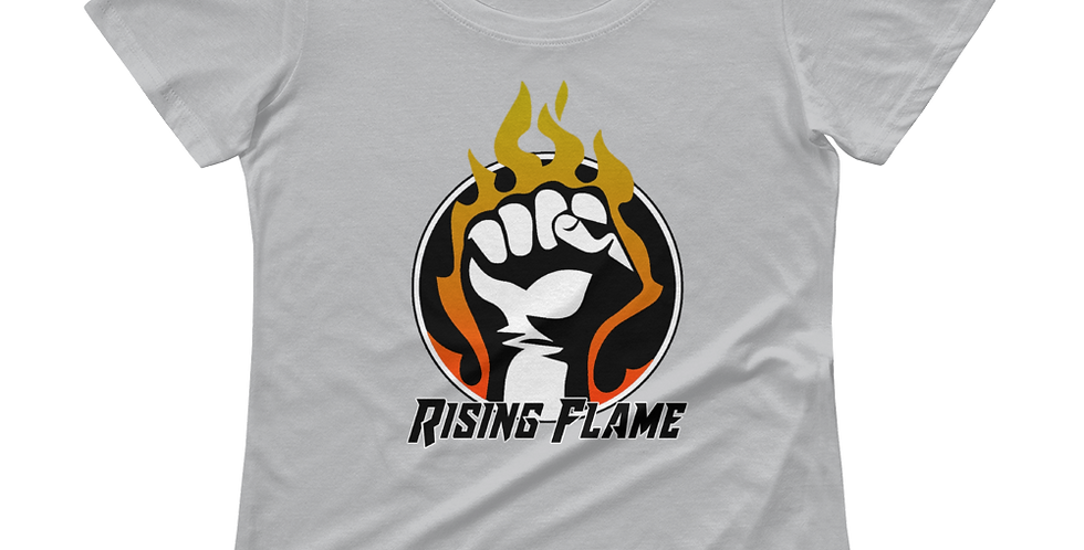 RisingFlame Logo Ladies' Scoopneck T-Shirt
