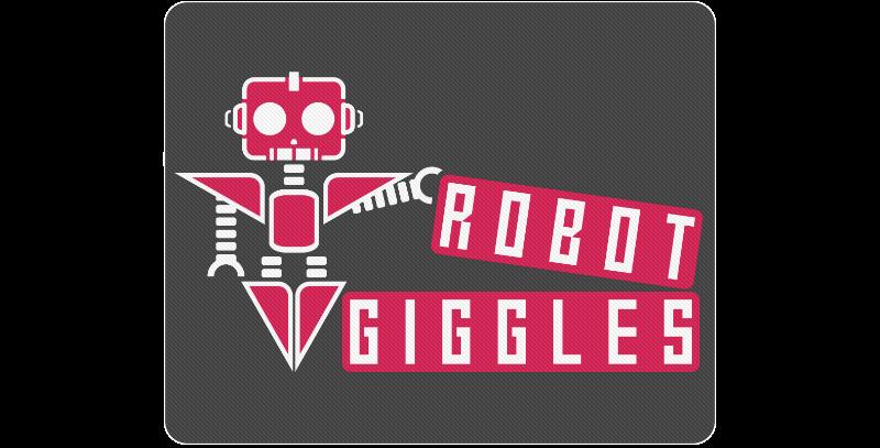 RobotGiggles Robot Standard Mousepad