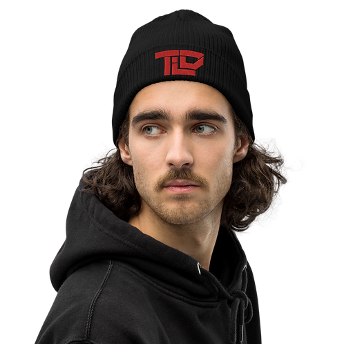 TLD PUFF EMBROIDERED Organic ribbed beanie