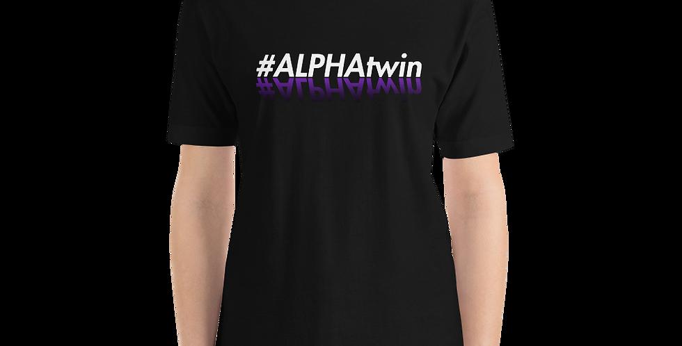#ALPHATWIN BLACK Short-Sleeve Unisex T-Shirt
