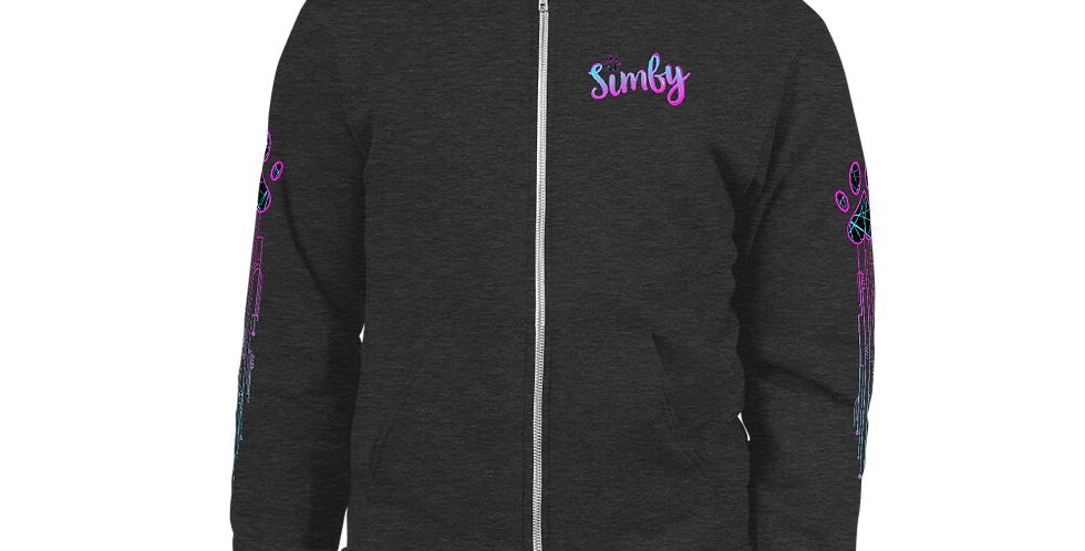 Simby Pawsitive Vibes Zip Up Hoodie sweater