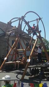 Manège en bois fête médiévale