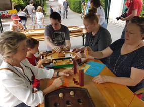 Animation jeux en bois fête de village