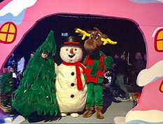 Mascottes sapin renne bonhomme de neige