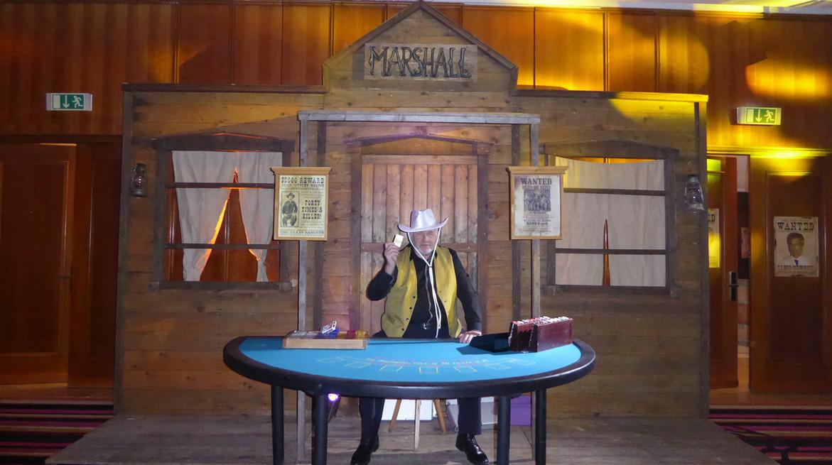 Animation casino et décoration Western