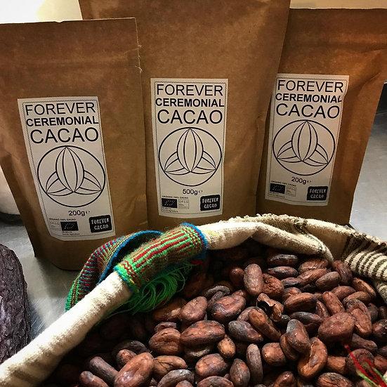 Organic 100% Ceremonial Grade Cacao 200g