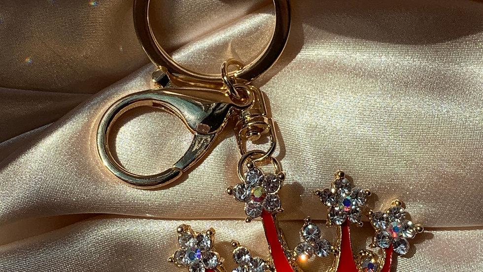 Poppy Royal Keychain