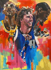 Atlanta-based artist Charly Palmer has produced work for the Olympics, John Legend, and Time Magazine, but illustrating the cover of the NBA 2K22 video game was a dream job.