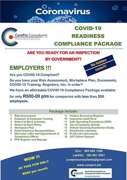 COVID-19 Readiness Compliance Package 2.