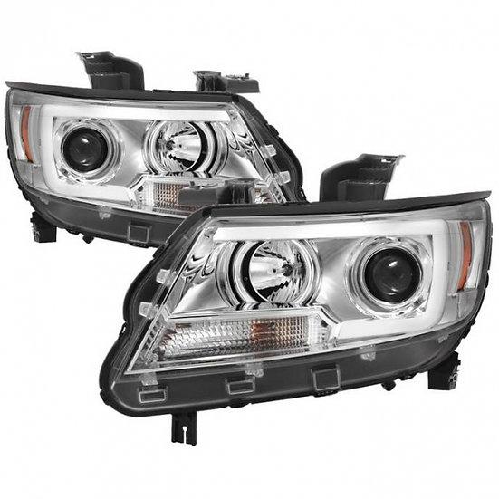 Spyder Projector Headlights W/ LED Light Bar (2015-2019 Colorado)