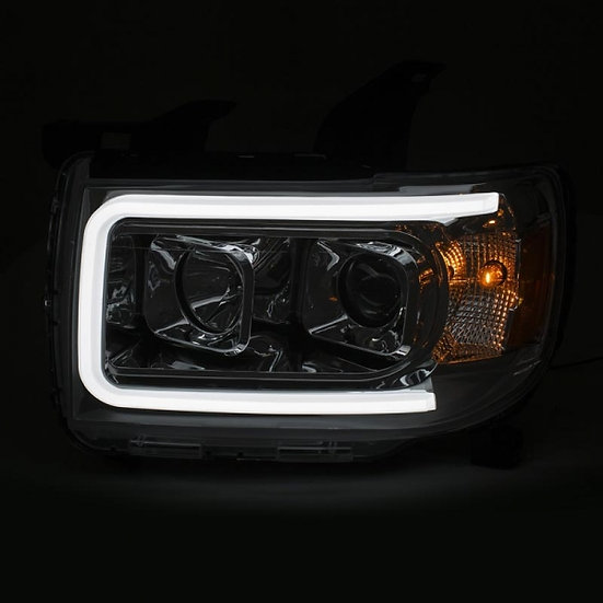 ANZO Chrome Plank Style Projector Headlights (2015-2019 GMC Canyon)