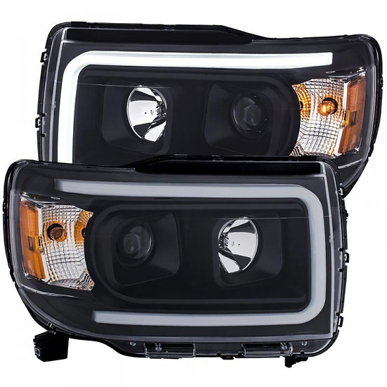 ANZO Black Plank Style Projector Headlights (2015-2019 GMC Canyon)