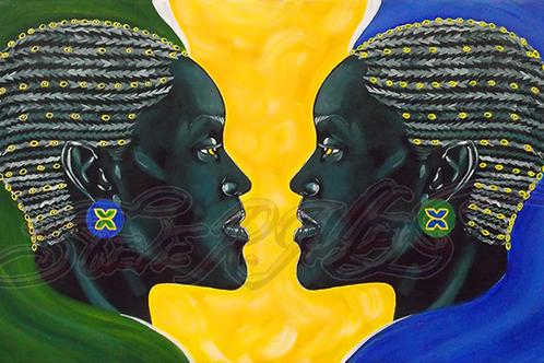 Reflection of Black Beauty