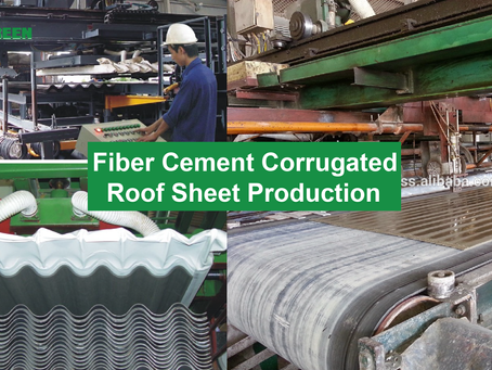MODEL OF FIBER CEMENT ROOFING SHEET PRODUCTION LINE