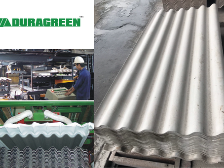 DURAGREEN fiber cement corrugated roofing sheet among world's competitors