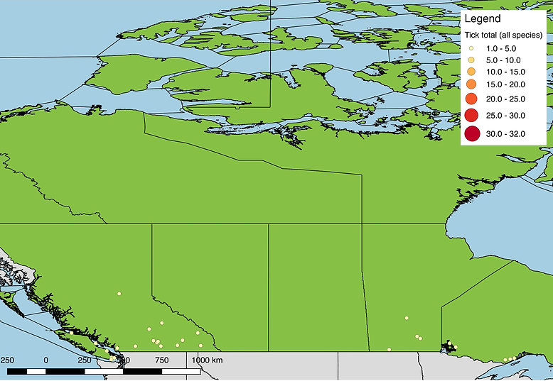All ticks submitted from Western Canada, 2017