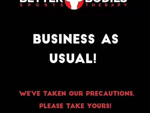 🙌 BUSINESS AS USUAL 🙌 - 16/03/20