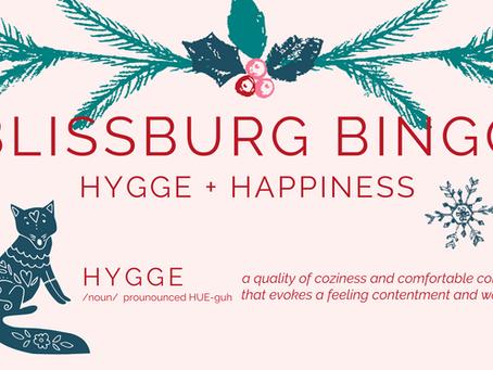 Hygge + Happiness Bingo