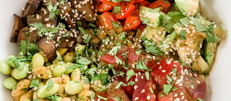 Ahi Poke Bowl with Cilantro Lime Dressing
