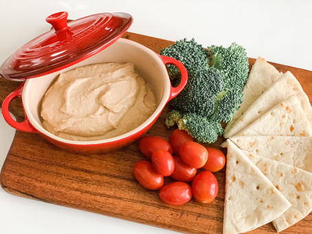 Roasted Garlic + White Bean Hummus