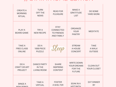 Blissburg Bingo, #StayAtHome Edition