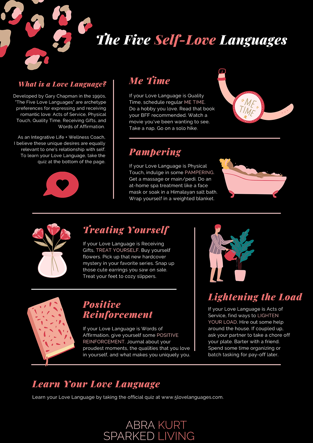 self-love languages, self love tips, love languages, self care tips