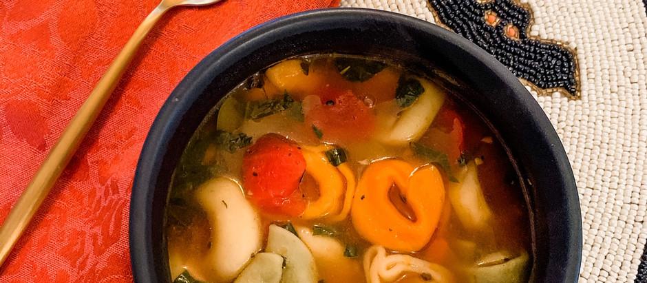 Tri-color Tortellini Vegetable Soup