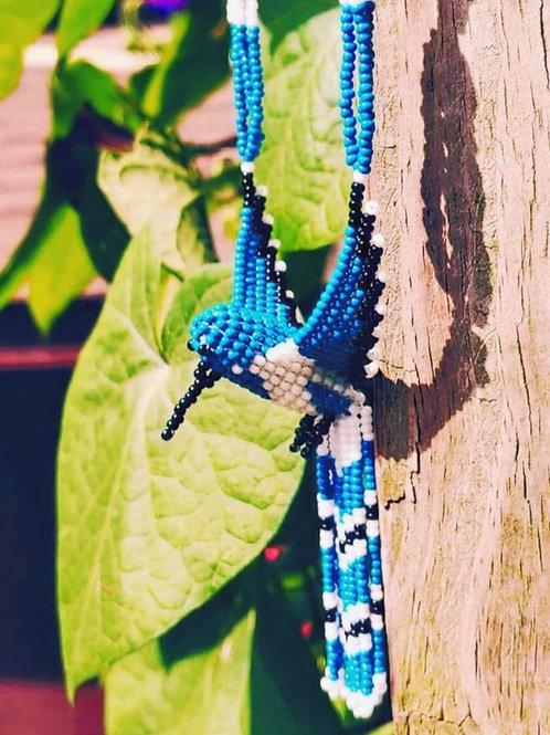 Sky Blue Hummingbird Necklace