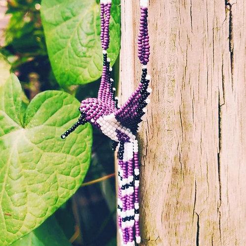 Purple Hummingbird Necklace