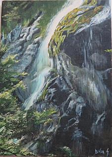 Mini cascade au Mont Koghi