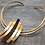 Thumbnail: Collier GOLD CURVED