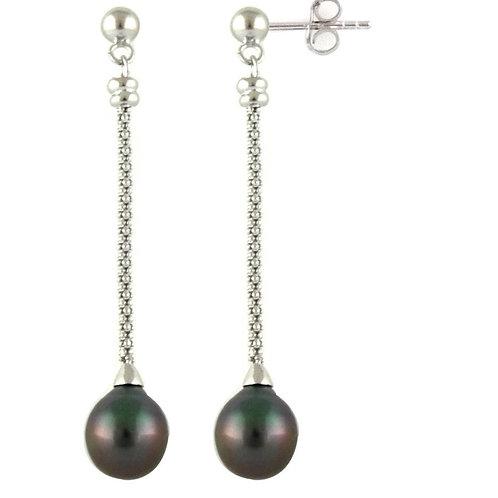 Boucles d'oreilles argent et perles gouttes
