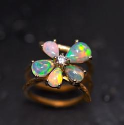 Bague or jaune750 Diamant taille brillan