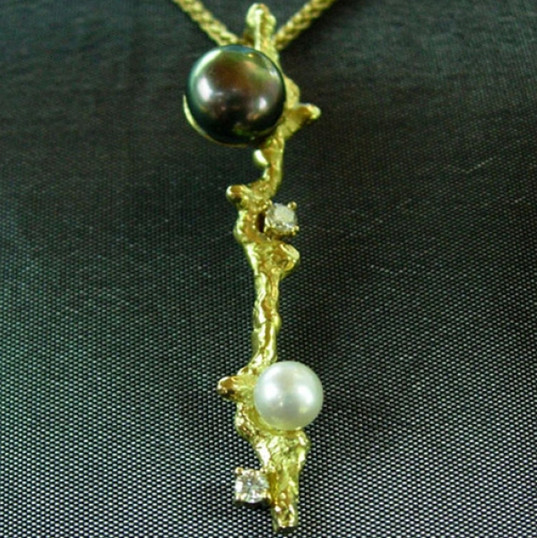 Or 750 perle de tahiti perle de chine et