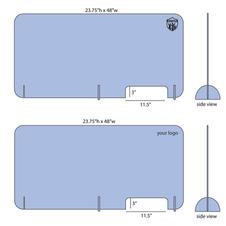 Large Desk Top Acrylic Barrier