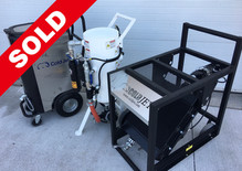 Coldjet C100HP Pneumatic Blasting system with The E-CO2™ 150 Abrasive pot and After Cooler
