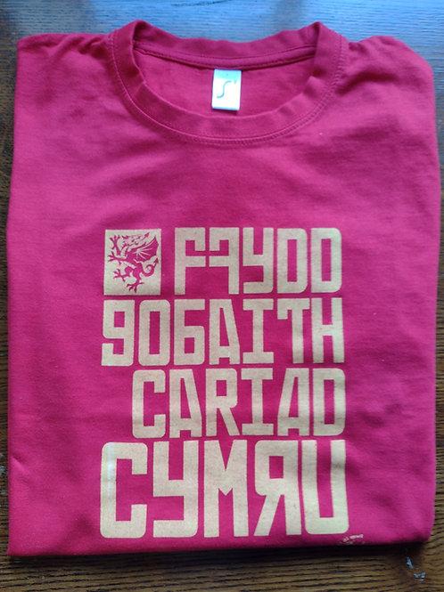 Crys-T FFydd Gobaith T Shirt