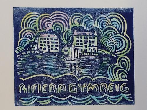 Print Lino Rifiera Gymreig